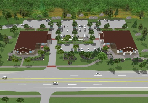 Site organization and landscape, Springfield Township